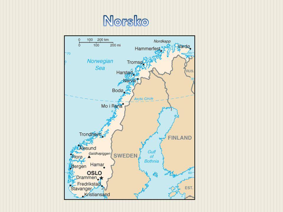 -hl.město: Oslo -Počet obyvatel: 4,7 mil. -Rozloha: 385 tis.