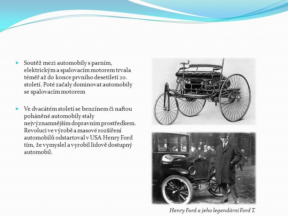 Soutěž mezi automobily s parním, elektrickým a spalovacím motorem trvala téměř až do konce prvního desetiletí 20.