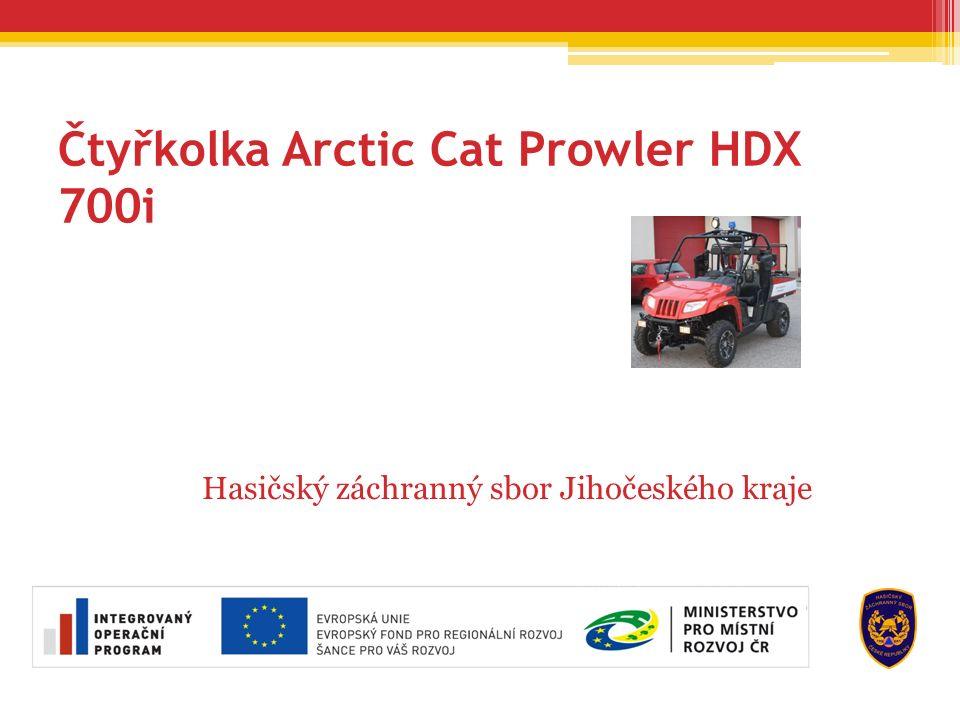 Čtyřkolka Arctic Cat Prowler HDX 700i Hasičský záchranný sbor Jihočeského kraje