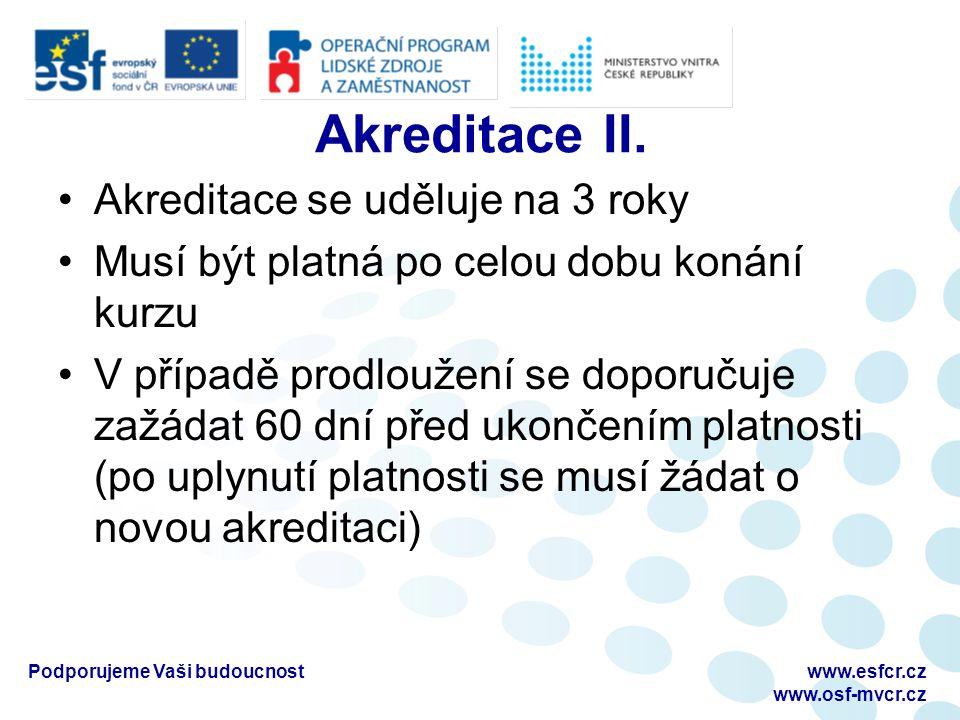 Akreditace II.