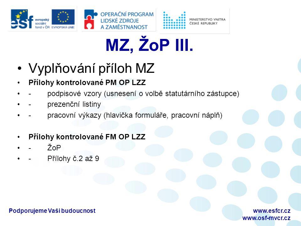 MZ, ŽoP III.
