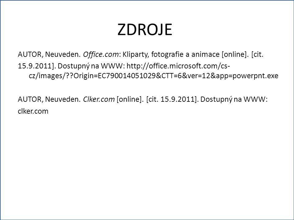 AUTOR, Neuveden. Office.com: Kliparty, fotografie a animace [online].