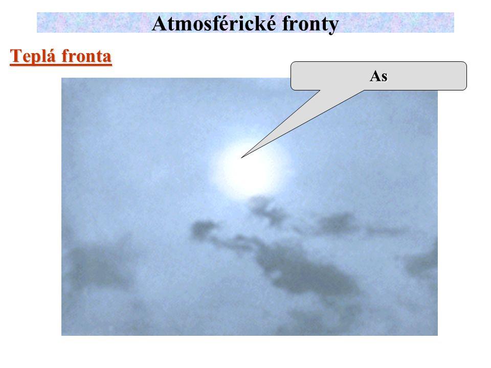 Teplá fronta Atmosférické fronty As
