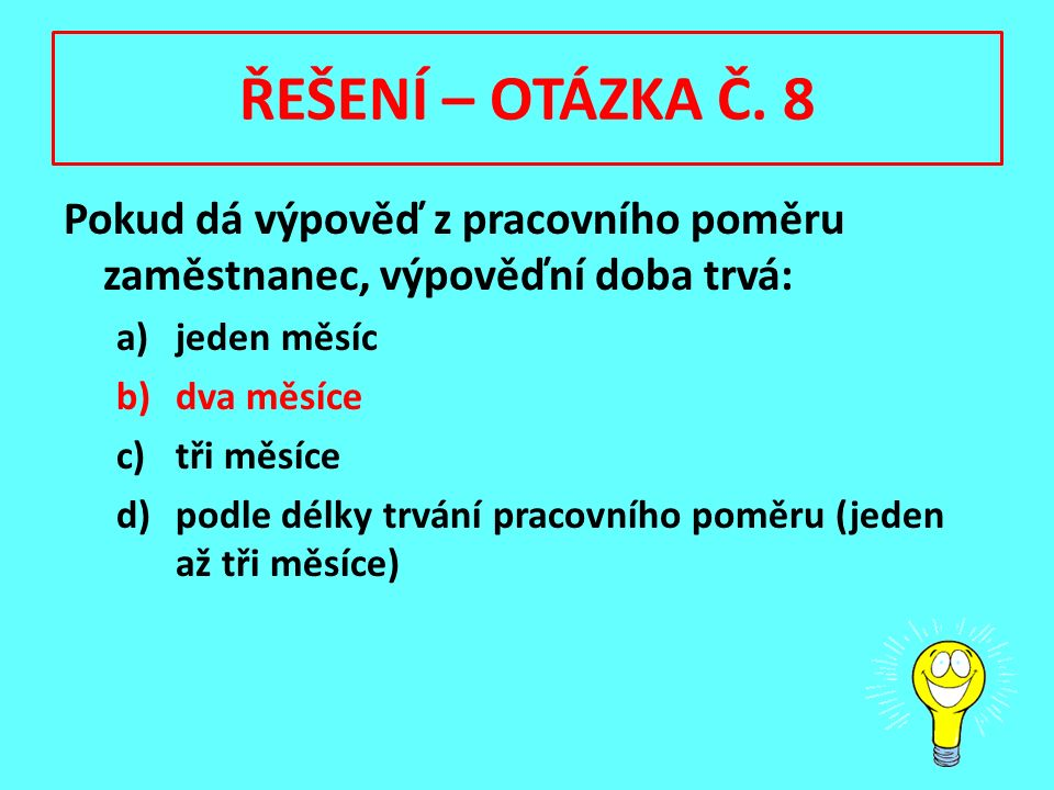 ŘEŠENÍ – OTÁZKA Č.