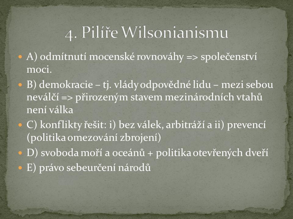 A) dle H.Kissingera - W. Wilson = idealista; - T.