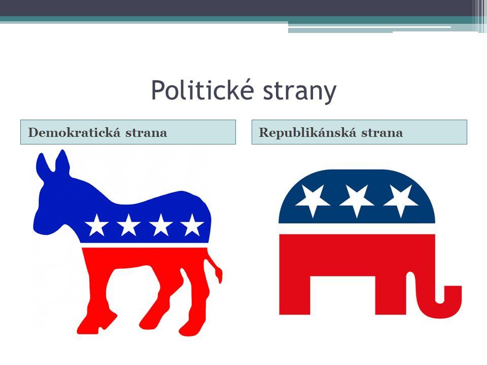 Politické strany Demokratická stranaRepublikánská strana