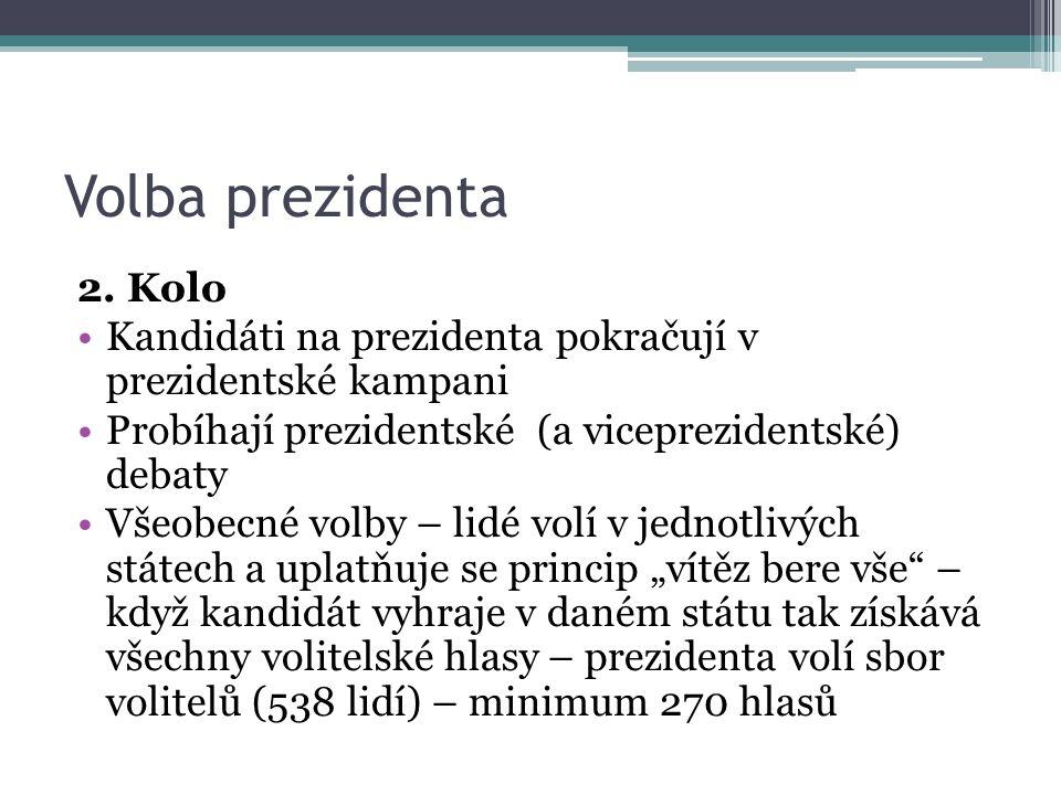 Volba prezidenta 2. Kolo Kandidáti na prezidenta pokračují v prezidentské kampani Probíhají prezidentské (a viceprezidentské) debaty Všeobecné volby –