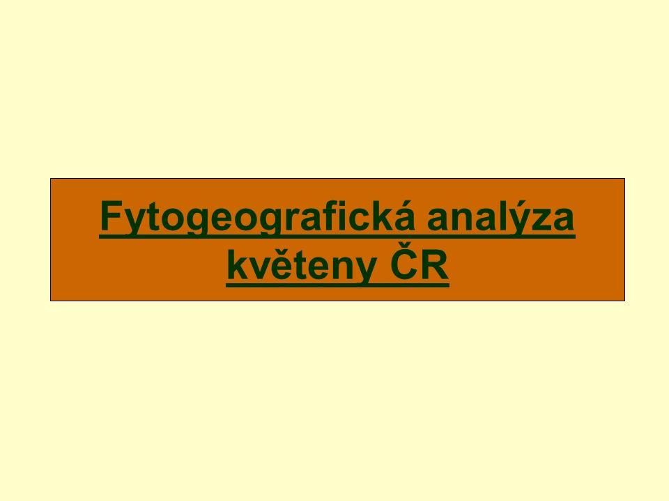 Fytogeografická analýza květeny ČR