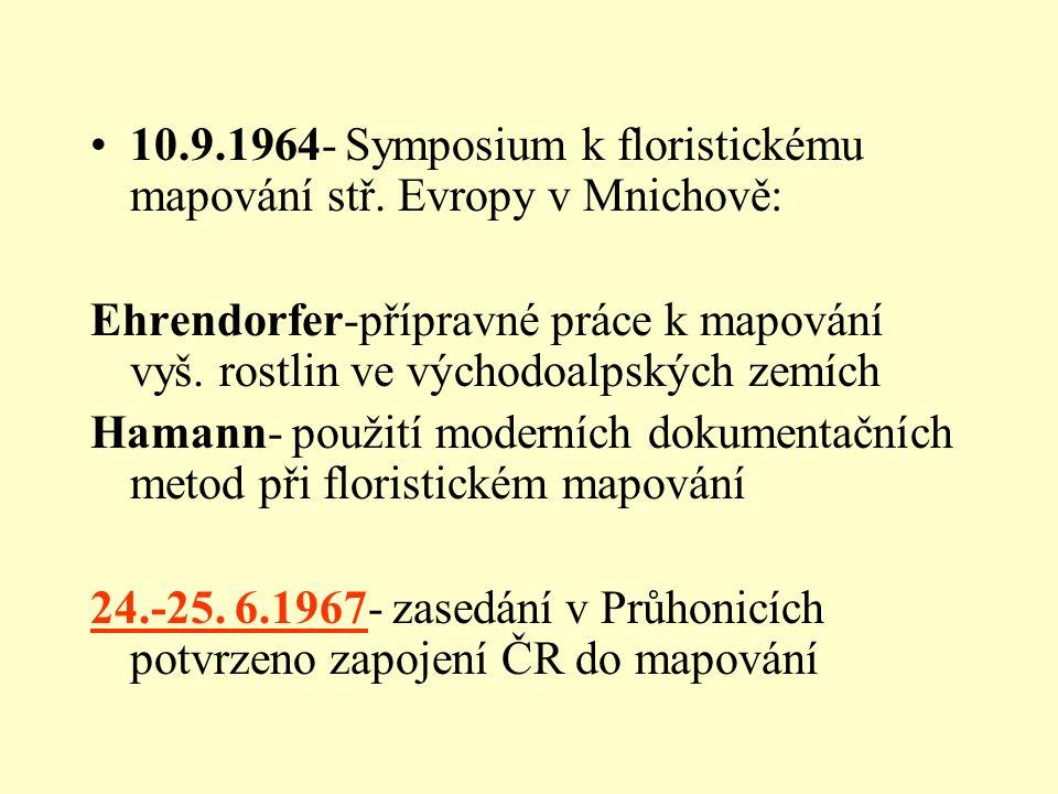 10.9.1964- Symposium k floristickému mapování stř.