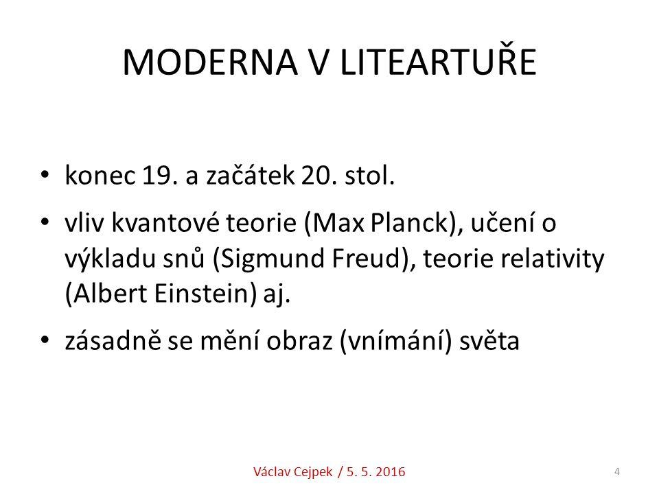 MODERNA V LITEARTUŘE konec 19. a začátek 20. stol.