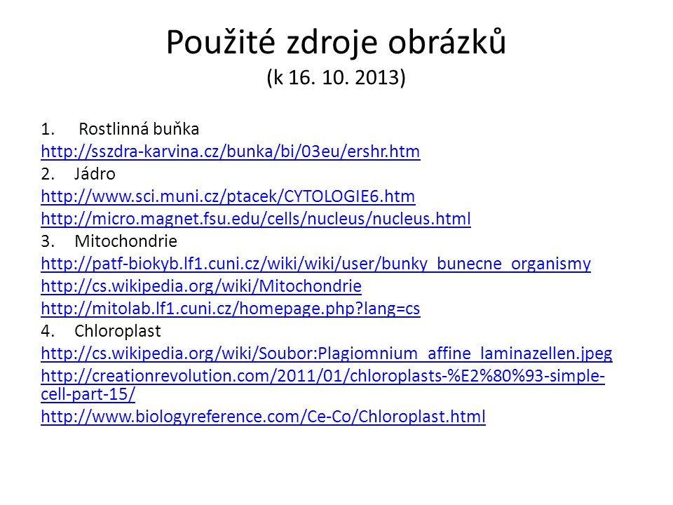 Použité zdroje obrázků (k 16. 10.