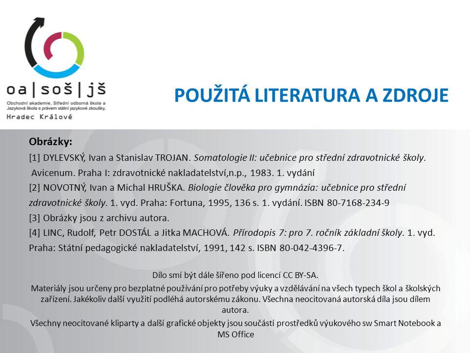 Obrázky: [1] DYLEVSKÝ, Ivan a Stanislav TROJAN. Somatologie II: učebnice pro střední zdravotnické školy. Avicenum. Praha I: zdravotnické nakladatelstv