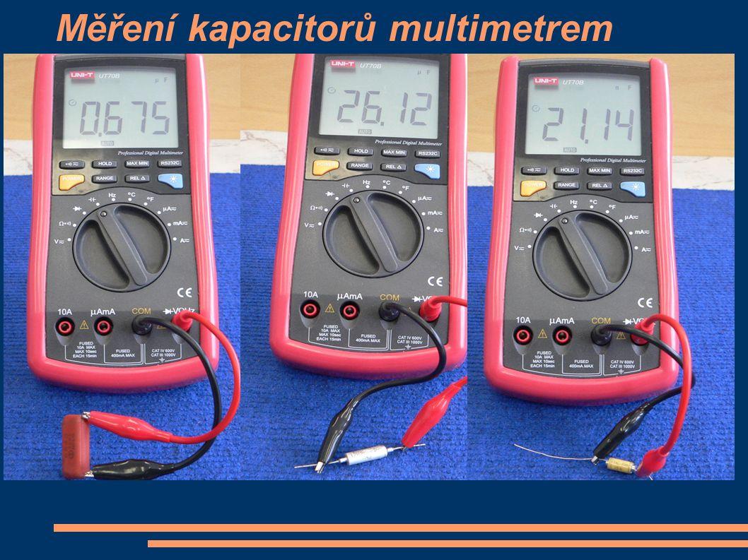 Měření kapacitorů multimetrem