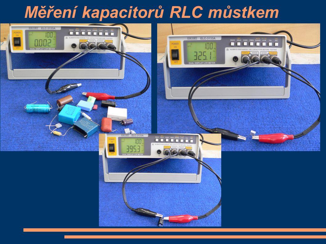 Měření kapacitorů RLC můstkem
