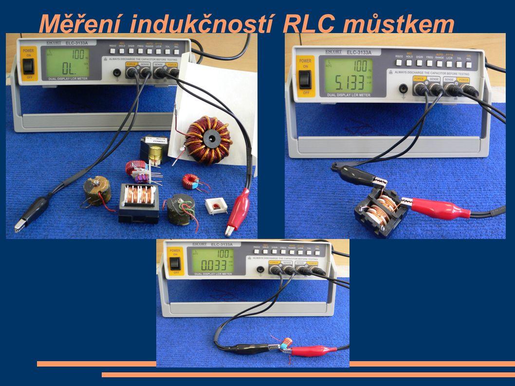Měření indukčností RLC můstkem