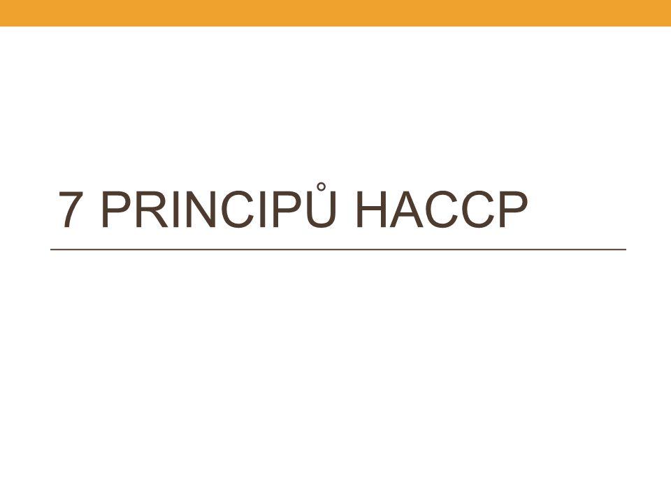 7 PRINCIPŮ HACCP