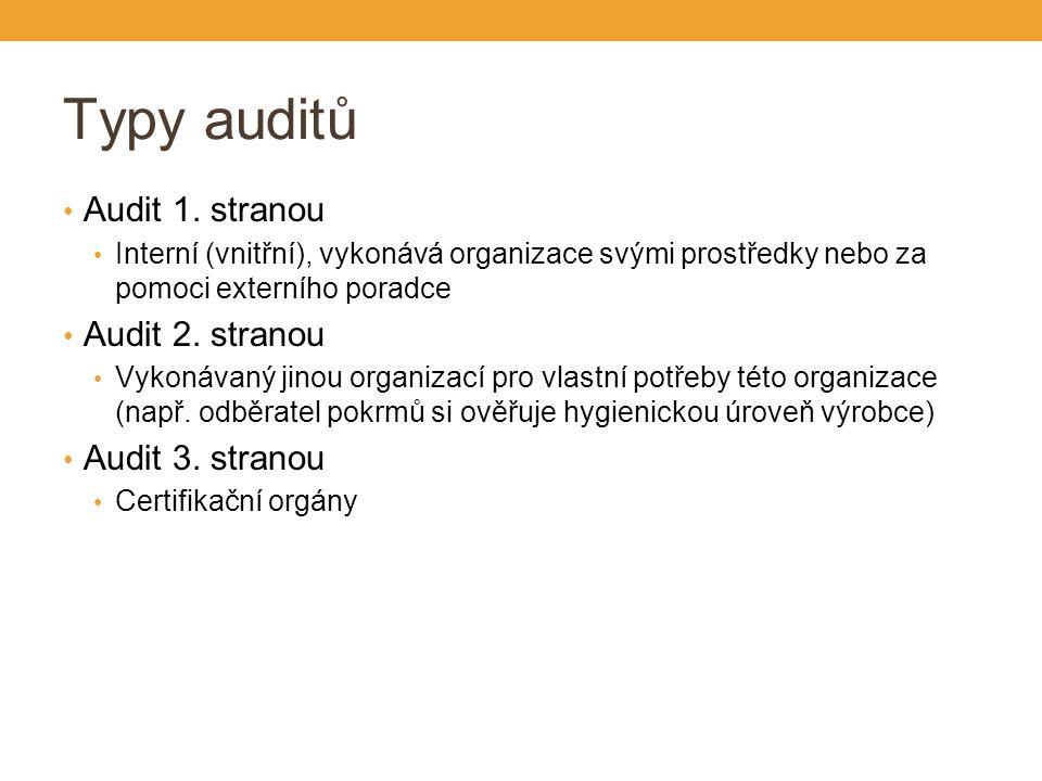 Typy auditů Audit 1.