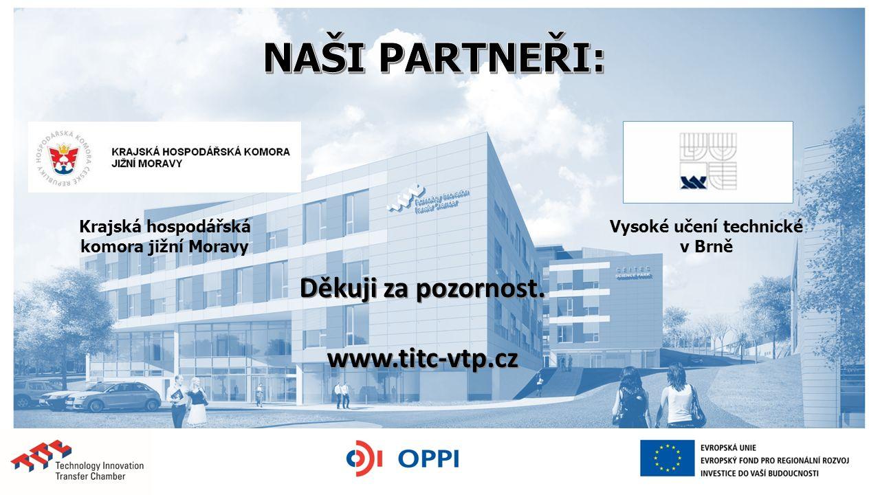 Děkuji za pozornost. www.titc-vtp.cz Krajská hospodářská komora jižní Moravy Vysoké učení technické v Brně