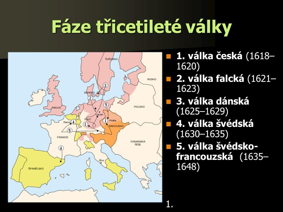 Fáze třicetileté války 1. válka česká (1618– 1620) 1.