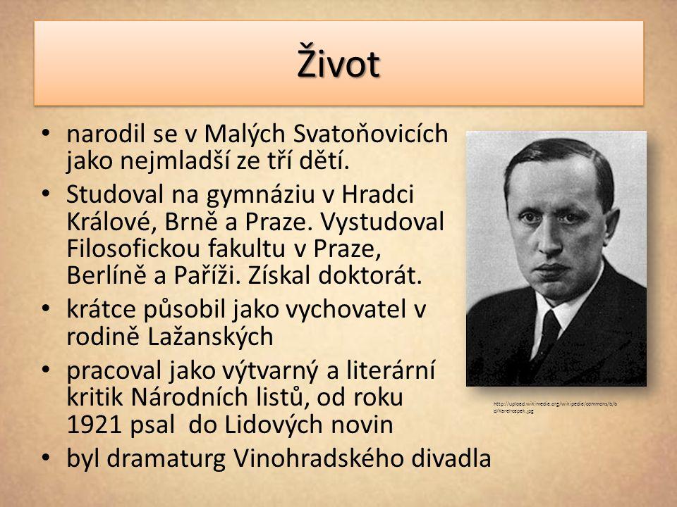 ŽivotŽivot narodil se v Malých Svatoňovicích jako nejmladší ze tří dětí.