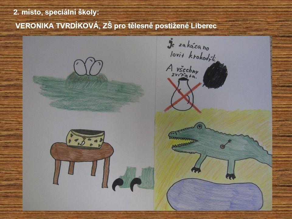 2. místo, speciální školy: VERONIKA TVRDÍKOVÁ, ZŠ pro tělesně postižené Liberec