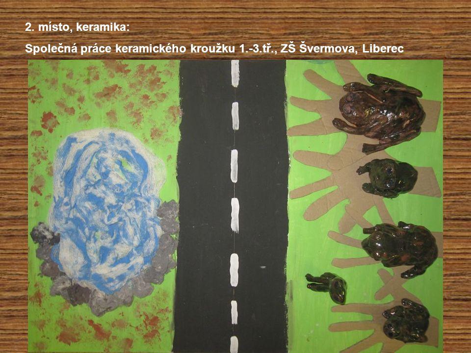 2. místo, keramika: Společná práce keramického kroužku 1.-3.tř., ZŠ Švermova, Liberec