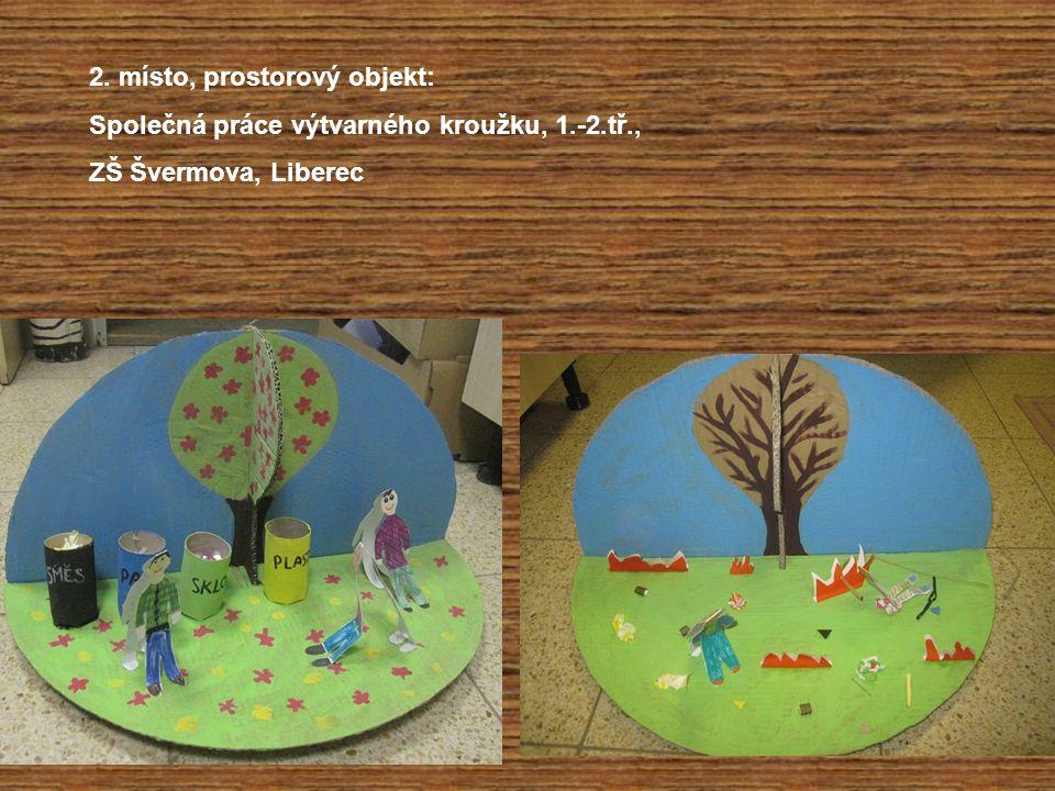 2. místo, prostorový objekt: Společná práce výtvarného kroužku, 1.-2.tř., ZŠ Švermova, Liberec