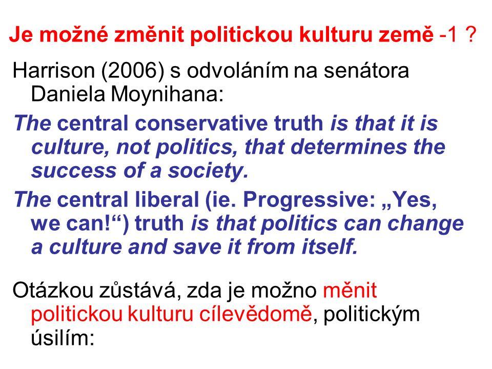 Je možné změnit politickou kulturu země -1 .