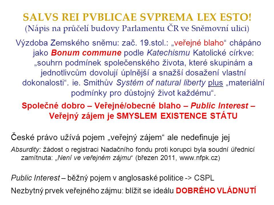 Britský přístup k lobbování a etice veřejného života - inspirací pro ČR.