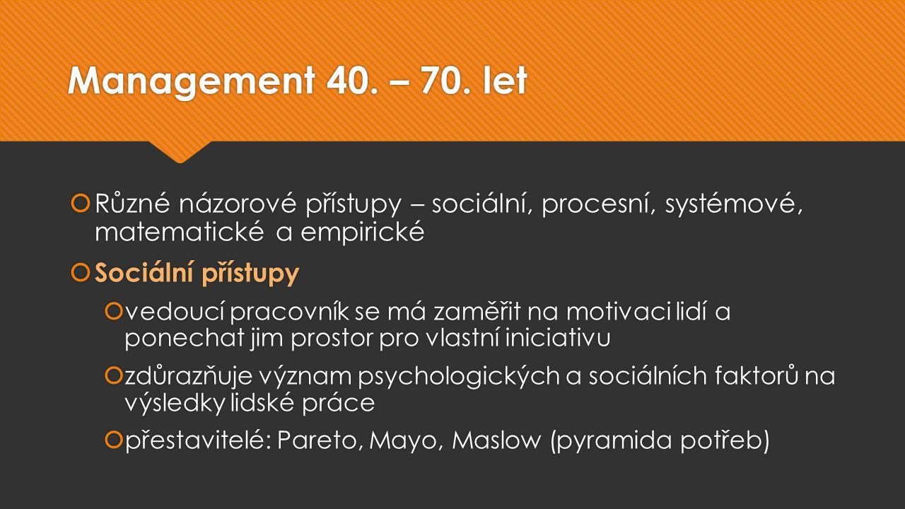 Management 40. – 70.