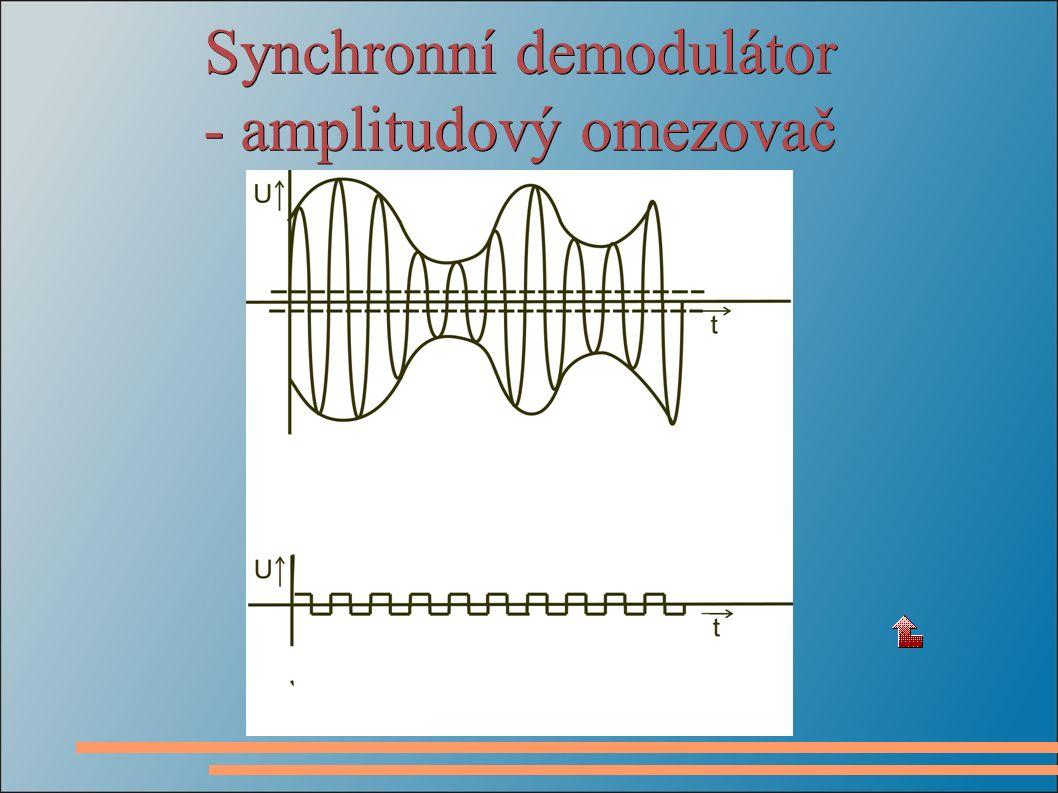 Synchronní demodulátor - amplitudový omezovač