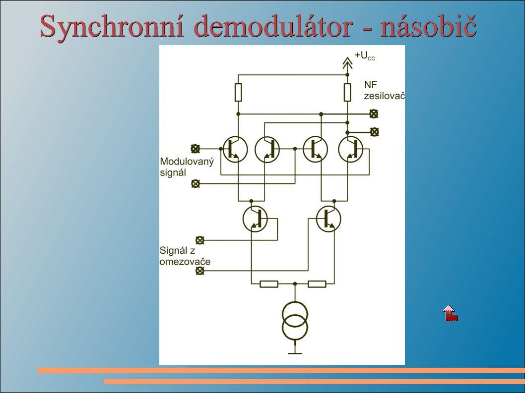Synchronní demodulátor - násobič