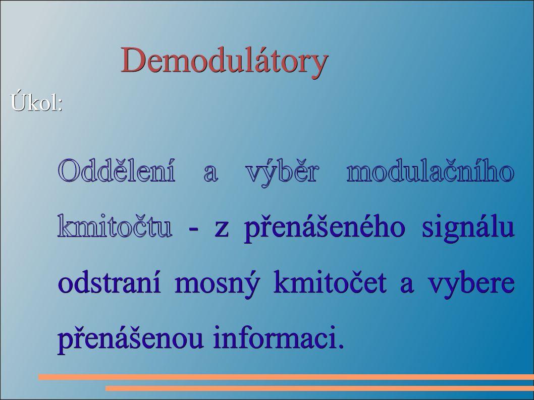 Demodulátory Úkol: