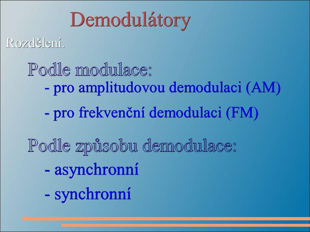 Synchronní demodulátor FM - posunovač fáze