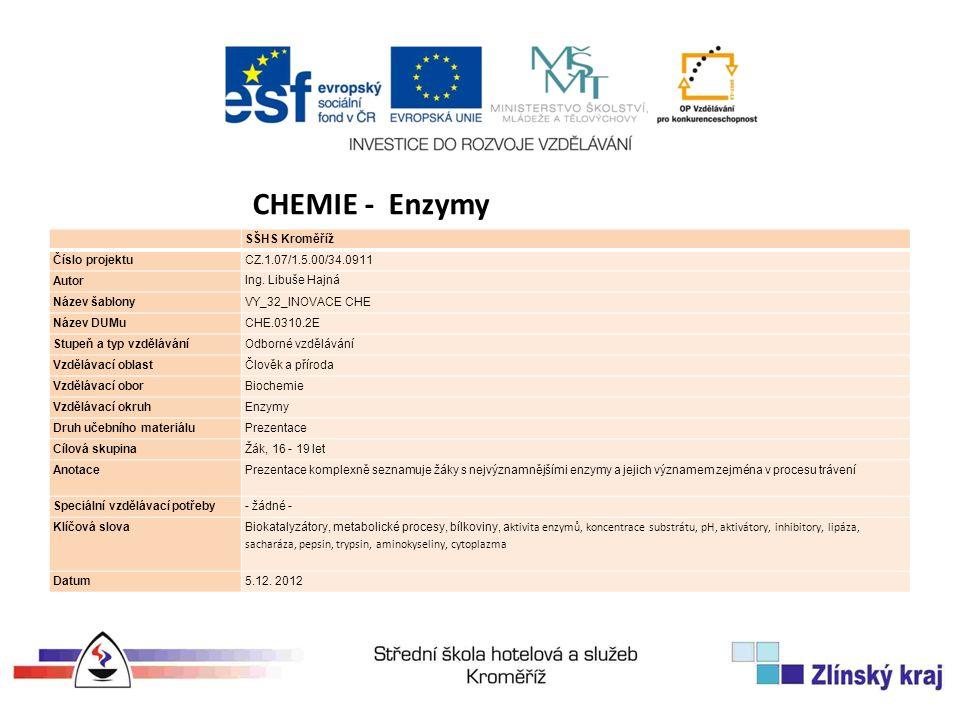 SŠHS Kroměříž Číslo projektuCZ.1.07/1.5.00/34.0911 Autor Ing.