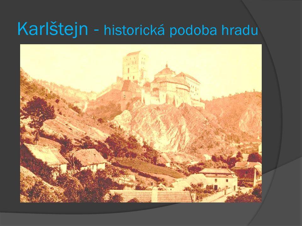 Karlštejn - historická podoba hradu
