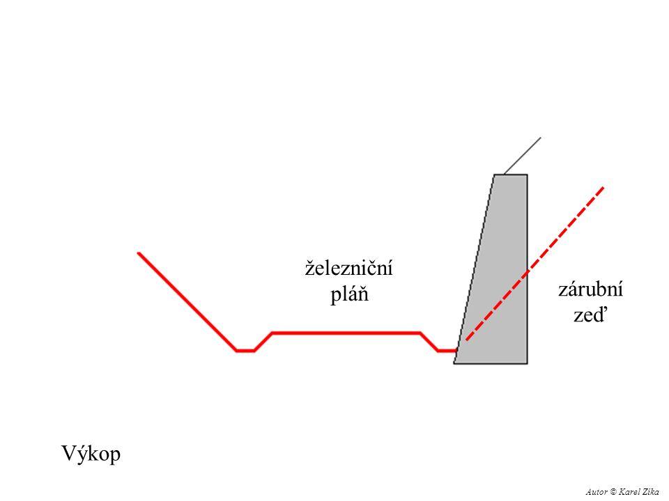 železniční pláň zárubní zeď Výkop Autor © Karel Zíka