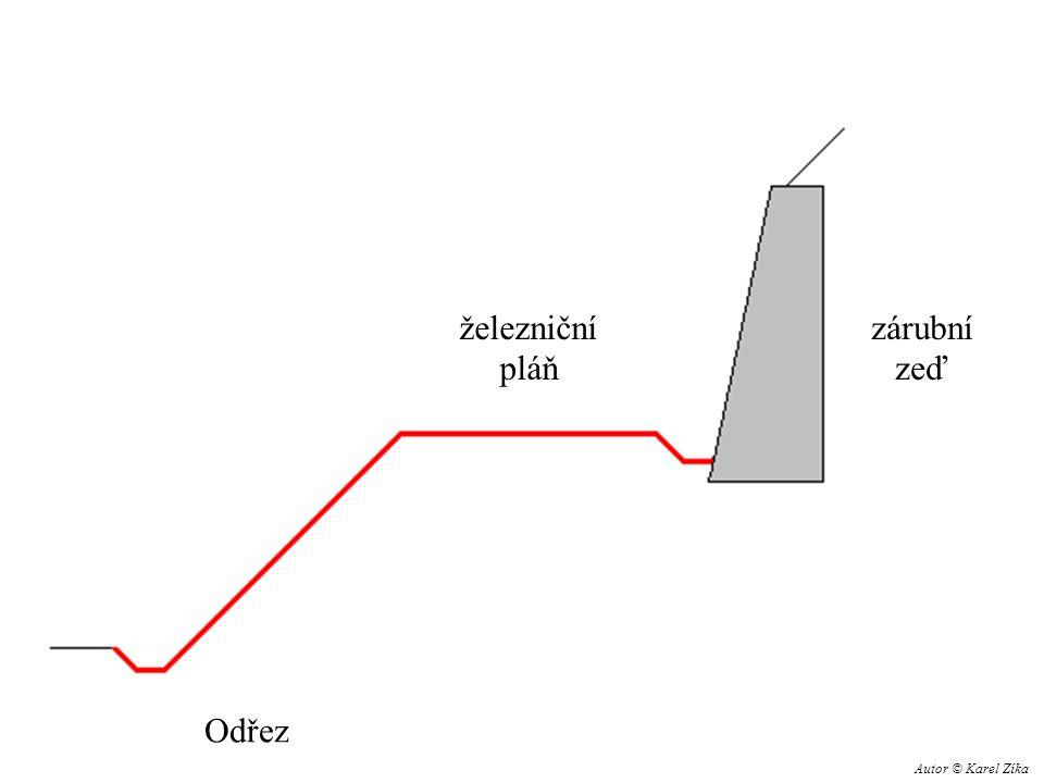 železniční pláň zárubní zeď Odřez Autor © Karel Zíka