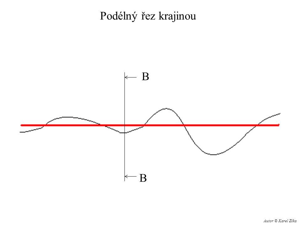 Příčný řez B – B odvodňovací příkop svah náspu Násep zemní těleso původní terén železniční pláň Autor © Karel Zíka
