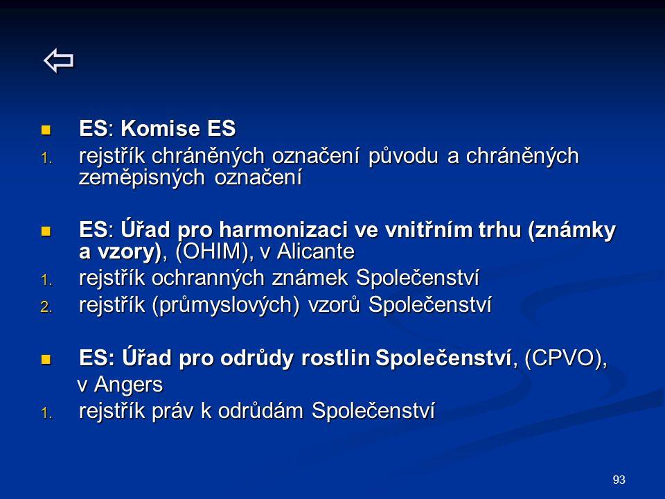 93  ES: Komise ES ES: Komise ES 1.