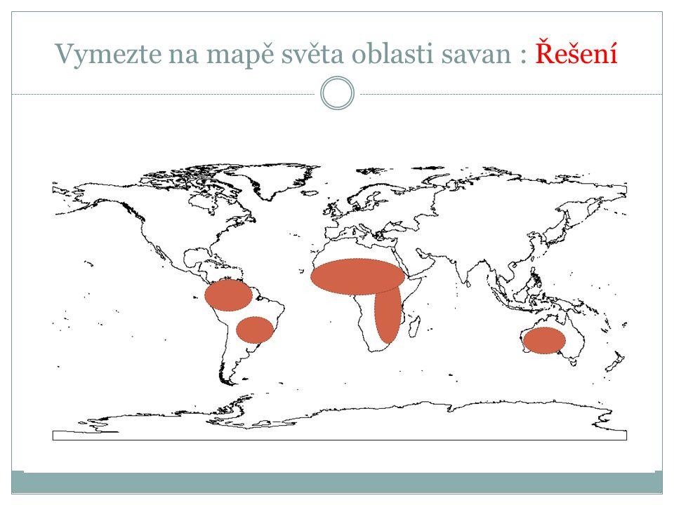 Savany Geobiom typický pro africký kontinent Fauna a flora je předmětem ochrany přírody Stupeň ochrany – Národní parky Boj s pytláky – slonovina, rohy, nelegální odchyt,lov Využití v cestovním ruchu – Safari (perspektivní pro ekonomický rozvoj států )