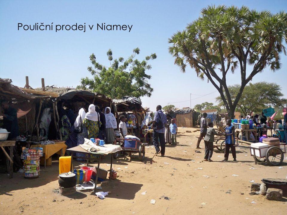 Pouliční prodej v Niamey