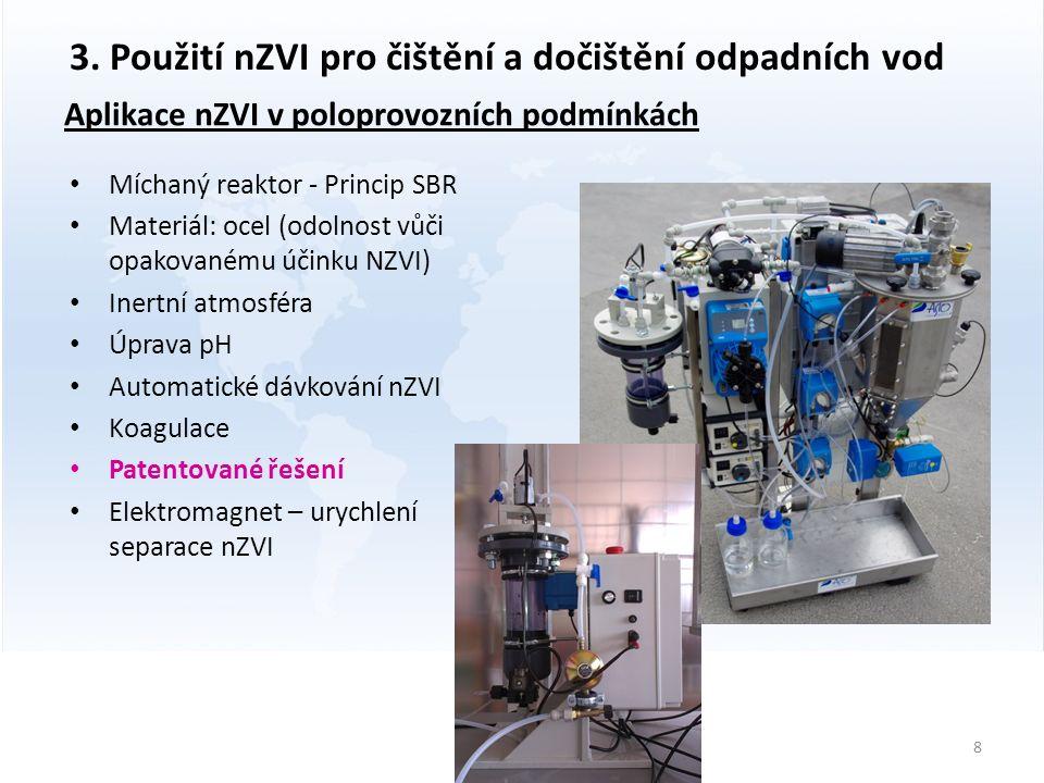 Aplikace nZVI v poloprovozních podmínkách 8 3.