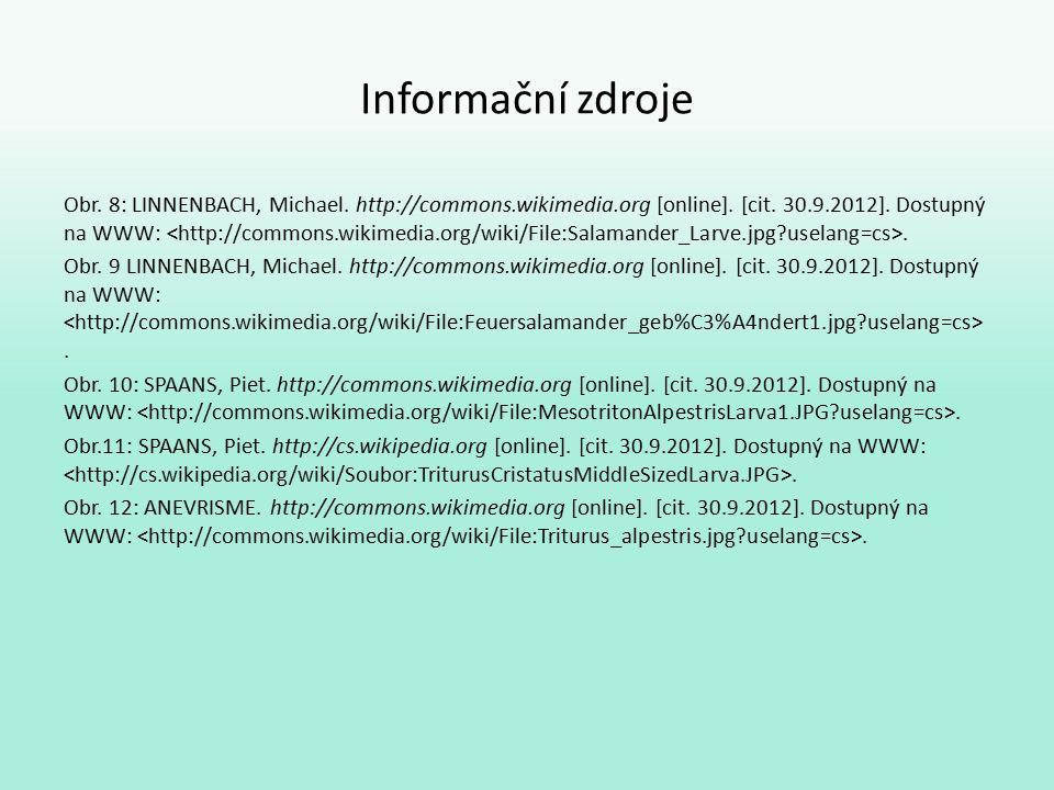 Informační zdroje Obr. 8: LINNENBACH, Michael. http://commons.wikimedia.org [online].