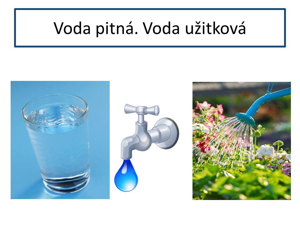 Voda pitná. Voda užitková