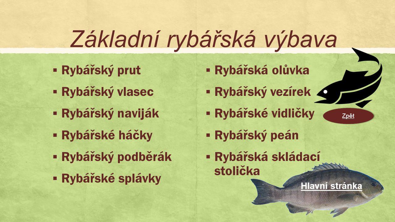  Nový pohled a přístup k rybaření jako ke sportu a oddechovému relaxu.