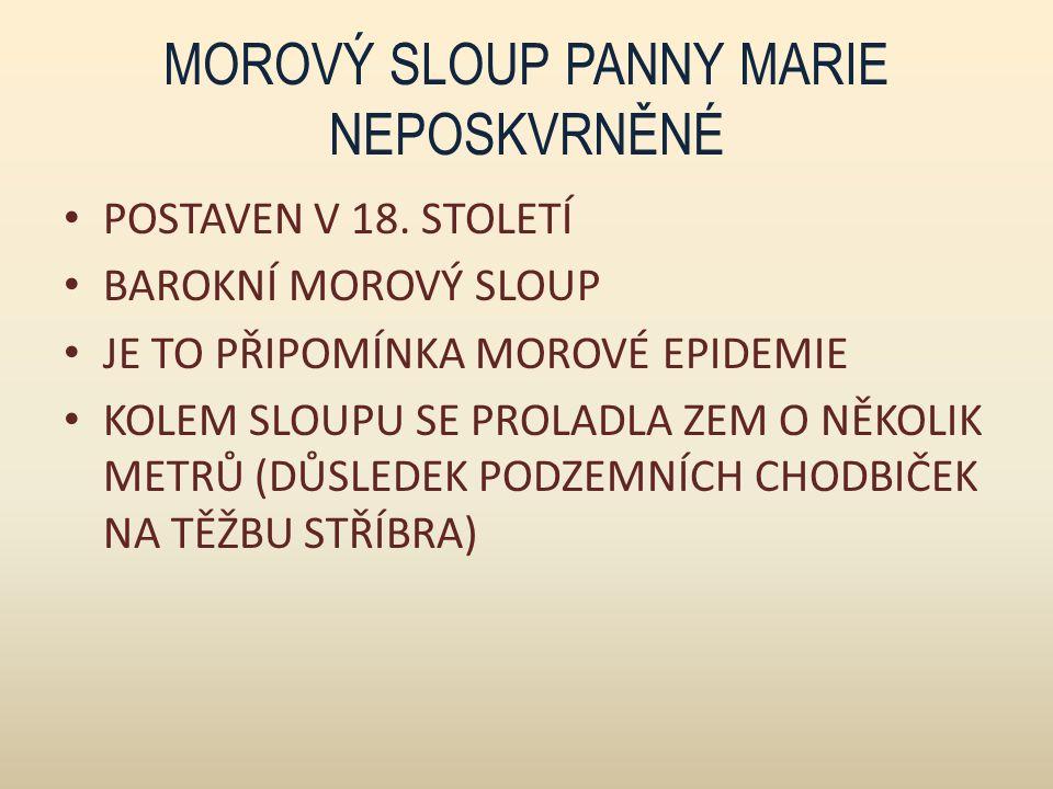 MOROVÝ SLOUP PANNY MARIE NEPOSKVRNĚNÉ POSTAVEN V 18.