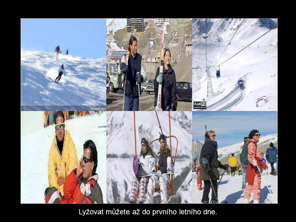 Kabinková lanovka, která začíná v Teheránu a končí v lyžařském středisku Tochal Ski Resort ve výšce 3900 m.