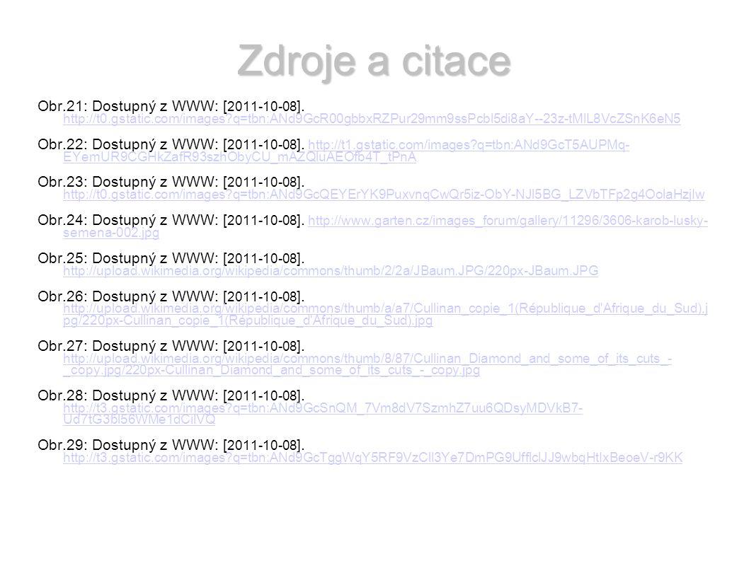 Zdroje a citace Obr.21: Dostupný z WWW: [ 2011-10-08 ].