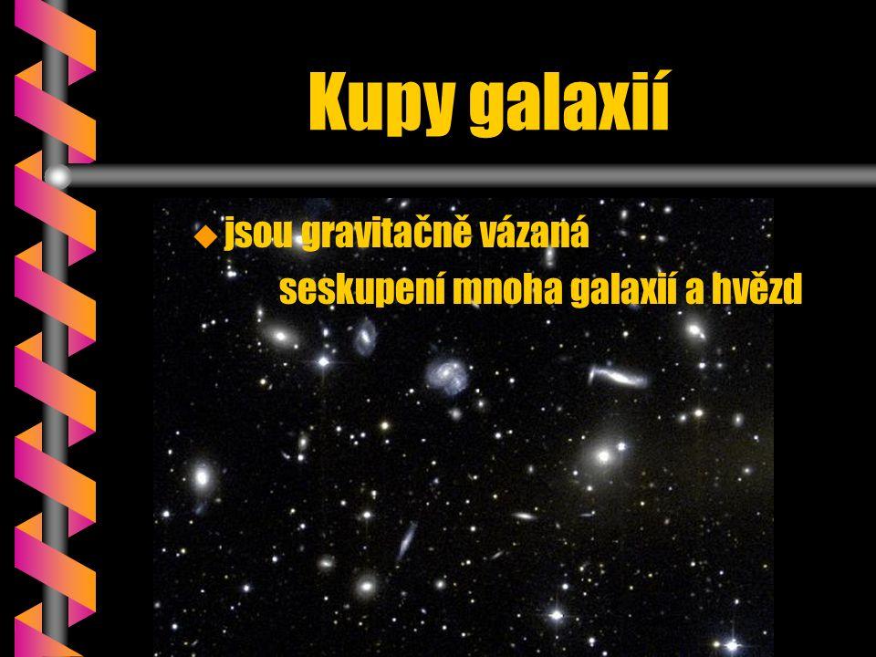 Kupy galaxií u u jsou gravitačně vázaná seskupení mnoha galaxií a hvězd